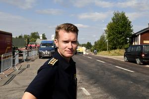Johan Szymanski, räddningsledare på lördagsmorgonen.