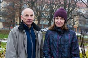 Roger Söderberg var på besök i parken med sin dotter Therese Ragwals.