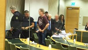 På torsdagen inleddes rättegången mot de två män, en 61-åring och en 63-åring, som misstänks för delaktighet i det stora amfetaminbeslaget i Hallstahammar i somras. Foto: Håkan Slagbrand