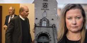 Stockholms tingsrätt  friar Eskil Erlandsson för sexuellt ofredande mot Camilla Sparring. Foto: Karin Sundin och TT.