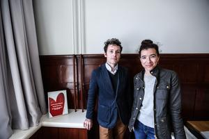 Christopher Liberatos och Jenny Bevan är på besök från Charleston, South Carolina, USA.