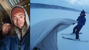 Alexander Rydén och Marcus Ahlström tog en annorlunda tur på sjön.