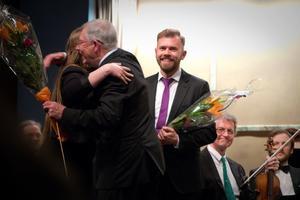 Josefin Skottheim, Mats Åberg, Henrik Berg, sittande konsertmästaren Leif Elfving. Foto: Thomas Fahlander