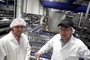 Totalt rör det sig om en investering på cirka 180 miljoner, berättar produktionschefen Jörgen Forsberg och projektledaren Mattias Åhman.