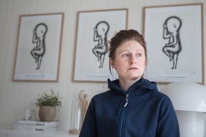 Elin Lundqvist säger att hon en lång tid efter diagnosen befann sig i ett tillstånd av chock.