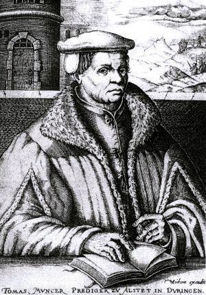 Den tyske prästen och upprorsledaren Thomas Münster, en av de historiska gestalter som Göran Greider lyfter fram.Bild: Wikimedia commons