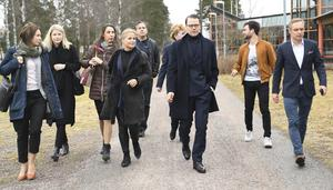 Prins Daniel besöker ABB industrigymnasium i Västerås tillsammans med Prins Daniels Fellowship 2019. Foto Fredrik Sandberg/TT