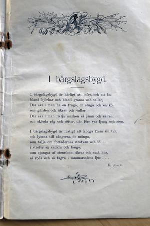 """Och Dan Anderssons första publicerade dikt """"I Bärgslagsbygd"""" kom 1906 i Bergslagsposten."""