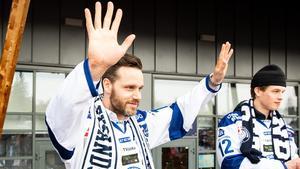 Jesper Ollas, klubbikon i Leksand, har fått jobb i Leksand. Foto: Daniel Eriksson/Bildbyrån.