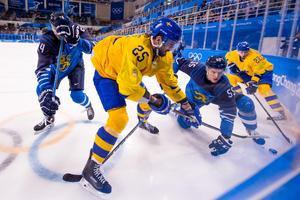 Viktor Stålbergs Tre Kronor jobbade ned Finland i gruppfinalen. Bild: Joel Marklund/Bildbyrån