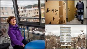Inga-Britt Grannerud har precis flyttat in i sin nya lägenhet på Erstagatan i Sundsvall.