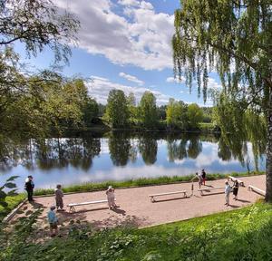 Boule spelas vid Sveriges vackraste boulebana