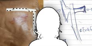 Kvinnan i 35-årsåldern låg och sov i en brun soffa när hon attackerades.