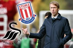 Graham Potter ska ha varit av intresse för både Stoke och Swansea. Bild: TT