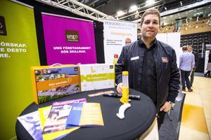 Erik Eriksson från Ung företagsamhet i Västernorrland.