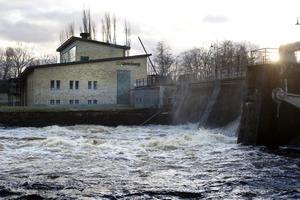 Strömdalens kraftverk vid Villastan och Boulognerskogen.