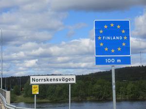 Den finska gränsen är öppen, men bara åt ena hållet.