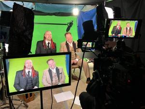 Anders Sebring och brodern Andreas Sebring intervjuades inför showen. Foto: privat.