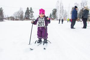 Den definitivt yngsta åkaren var knappt två år gamla Ellinor Rahnbou från Rönninge.