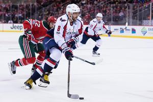 Alexander Ovetjkin – vinnare av motsvarande tävling i NHL den här säsongen med 163 km/h. Foto: Joel Marklund / Bildbyrån