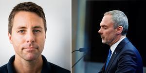 Robert Beronius (L) ser Björklunds avgång som en chans till förbättring. Bilder: Jesper Jäger-Ärlestad och Naina Helen Jåma/TT