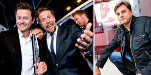 Fredrik Wikingsson och FIlip Hammar i Breaking News till vänster. Carlos Morén, general för Västerås Filmfestival, till höger.