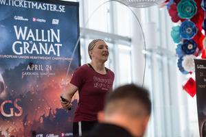 Mikaela Lauréns motståndare Verena Kaiser.
