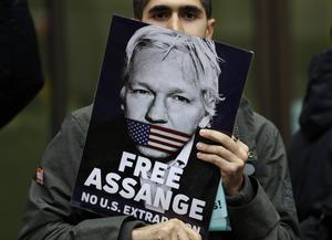 Julian Assange avslöjade USA:s hemligheter genom att lägga ut dokument på Wikileaks. FOTO: Kirsty Wigglesworth