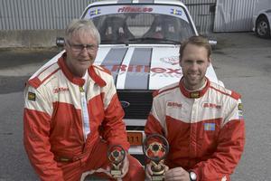 vinnare. Rimos Martin Hagman (till höger) och kartläsande Staffan Johansson var snabbas av 31 startande i Appendix K.