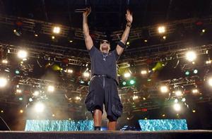 Jay-Z uppträder på 2010-talets första Peace & Love-festival. Bild: Niklas Larsson