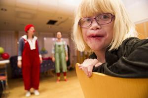 Sofie Åhlander uppskattade clownerna från Ögonblicksteatern.