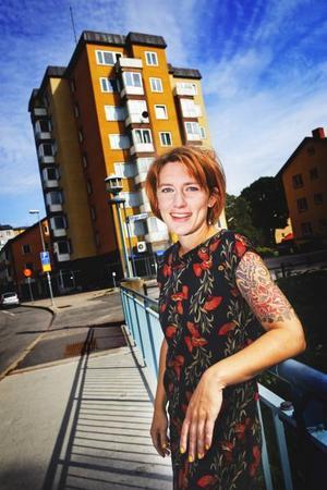 I Hyttgatans höghus bor några av Anna Jörgensdotters romankaraktärer i den kommande boken.