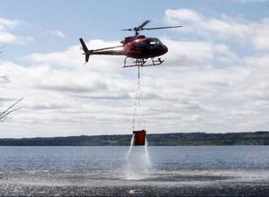 Tunnan med fisk och vatten väger cirka 700 kilo när Jonas Grinde åker iväg för utsättning.