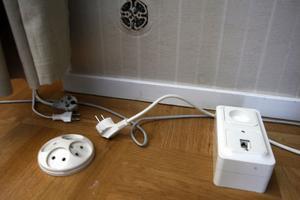 Med en kombinerad uttagsdosa för el och bredband ska monteringen gå smidigt.