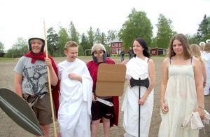 Och en del elever hade valt att gestalta Antiken.Foto: Jonas Ottosson