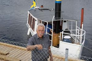 Per Sjöborg är en av de engagerade i ångbåtsprojektet.