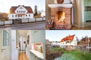 I det här huset från 1920-talet i Villastaden i Falun finns fyra lägenheter. Det är en lägenhet med fem rum som nu är till salu med ett ugångspris på 3 500 000 kronor.