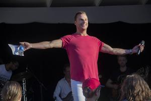 Magnus Carlsson levererade inför en hängiven publik.