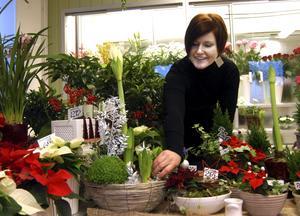 Glädjen som blommor sprider blir en sporre i arbetet för Therese Eriksson. Förutom att hon själv blir glad av blomster gillar hon att skapa buketter och olika arrangemang.