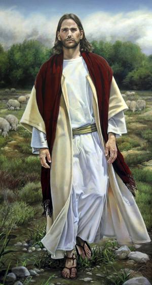 Romantiska bilder av Jesus finns på alla platser där Jesu Kristi Kyrka av sista dagars heliga har museer. Det här finns i Visitors centre vid kullen där Joseph Smith träffade en ängel.