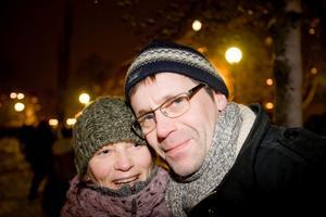 Carina Larsson och Robert Blombäck.