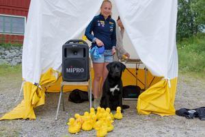 Linn Larsson  besökte funktionärstältet under Hedeveckans ankrace.