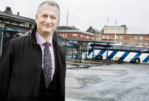 Stefan Fredriksson, vd på Länstrafiken, är en av dem som står bakom förslagen att förbättra trafikmiljön i centrala Östersund.