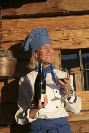 Ulla Frassy driver restaurang i Cervinia.   Foto: STS Alpresor