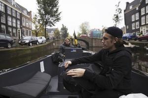 David Lindberg i Amsterdam. Där var han med och gjorde en kampanj för Axwell och Ingrossos låt