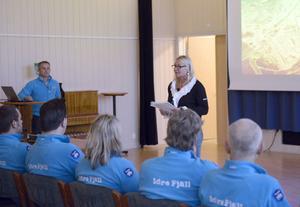 Idre Fjälls stiftelses ordfröande Eva Bjernudd presenterade verksamheten och Idre Fjälls planer.
