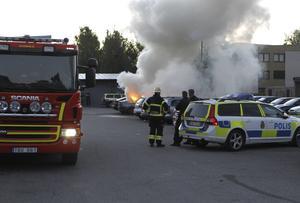 Bilbrand på Kornstigen, Tjärna Ängar i Borlänge.
