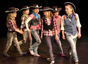 Westerntjejerna i gruppen Stardust dansade till låten Timber.