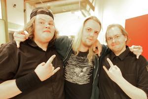 Marcus Elfström, Linus Züchner och Per Halvarsson från Svegbandet Coerced var ett av banden som deltog.
