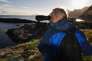 Filmaren Kurt Skoog, Östersund, har fått ett hedersomnämnande för sin film Vattnets själ vid en internationell naturfilmsfestival i USA. Foto: Micke Sundberg